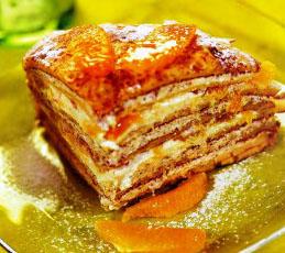 Блинчатый десертный пирог
