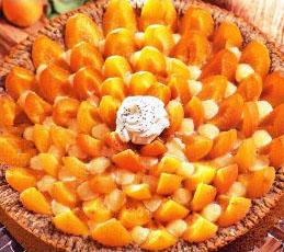 Пирог с абрикосами и маком