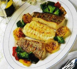 Рыба-гриль со сладким перцем
