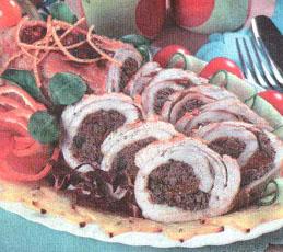 Грудка индейки, запеченная с печенью