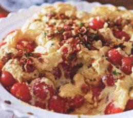 Клафути с помидорами и пармезаном