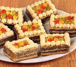 Кофейно-цитрусовые пирожные