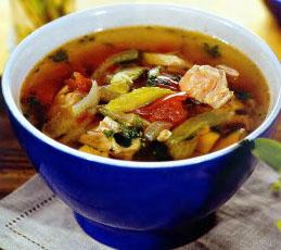 Куриный суп с сельдереем и помидорами