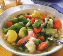 Овощное рагу с сосиками