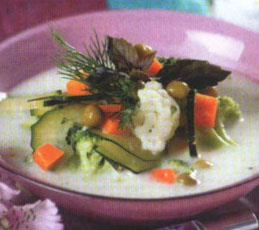 Овощной молочный суп