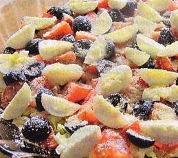 Печень трески с овощами