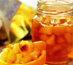 Персиковое варенье с апельсинами