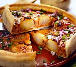 Пирог с луком-шалот