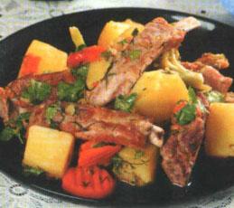 Рагу овощное с ребрышками
