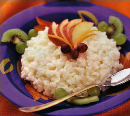 Каша рисовая с фруктами