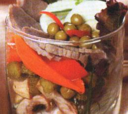 Салат-коктейль из языка