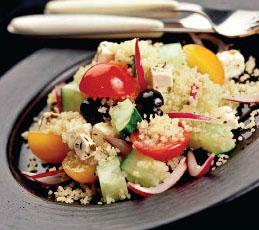 Салат с кускусом и фетой