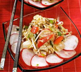 Салат с рисом в китайском стиле