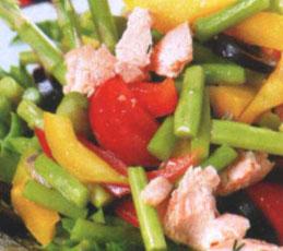 Салат с семгой и спаржей