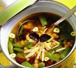 Суп из трех видов фасоли