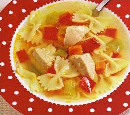 Суп с индейкой и фарфалле