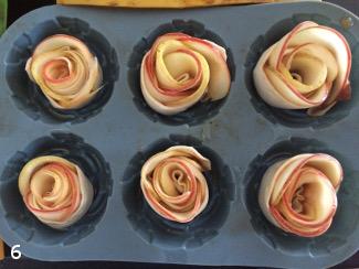Розочки из яблок приготовление
