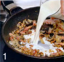 Макароны по-флорентийски с яйцом приготовление