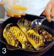 Ананас-барбекю приготовление