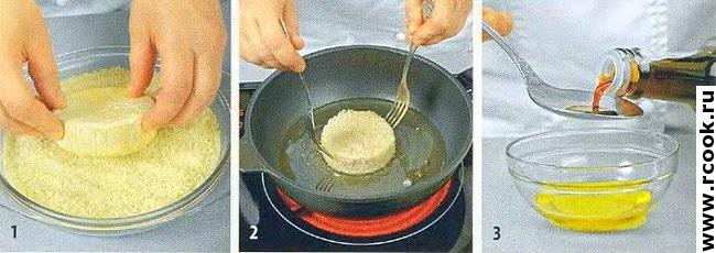 Закуска из жаренного сыра приготовление