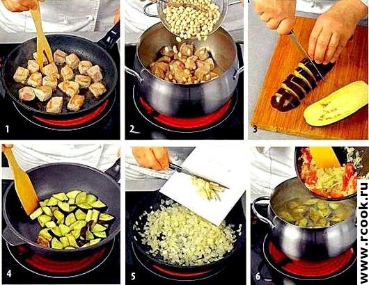 Фасолевый суп со свининой приготовление
