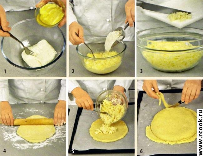 Сырная лепешка приготовление