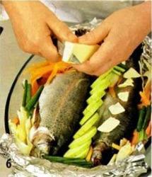 Форель запеченная с овощами приготовление