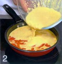 Фриттата с сыром и сладким перцем приготовление