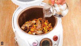 Гороховый суп с копчеными колбасками. Готовим в мультиварке приготовление
