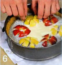 Яблочный чизкейк с маком приготовление