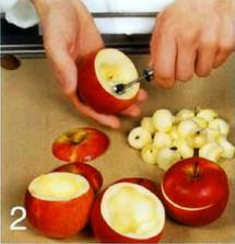 Яблоки с творогом приготовление
