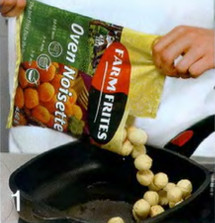 Яичное суфле с картофельными шариками приготовление