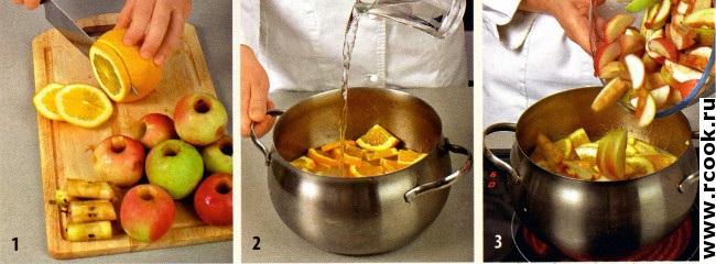 Варенье из яблок с апельсинами приготовление