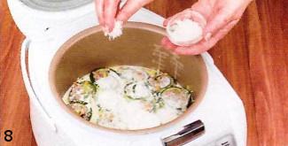 Кабачки, запеченные с мясом и грибами. Готовим в мультиварке приготовление