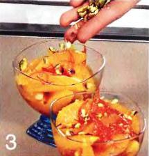 Карамельные апельсины с кампари  приготовление