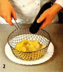 Картофельные чипсы приготовление