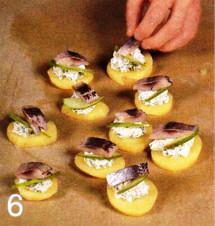 Картофельные тарталетки с сельдью приготовление