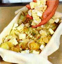 Картофельный пирог приготовление