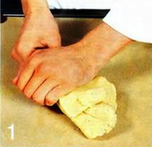 Корзиночки из миндального теста с ванильным кремом и черникой приготовление