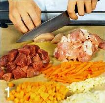 Кускус с бараниной и цыпленком приготовление