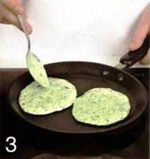Оладьи из зелени приготовление
