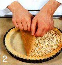 Открытый пирог с копченым лососем  приготовление