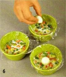 Овощи в желе из йогурта приготовление