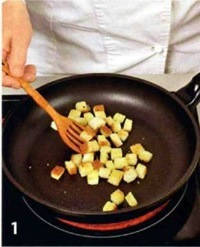 Овощной салат с гренками приготовление