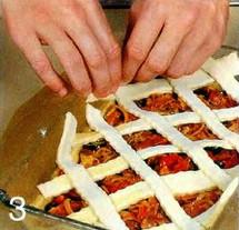 Пирог с колбасой приготовление
