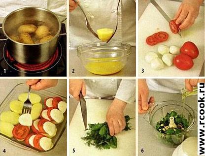 Картофель, запеченный с моцареллой приготовление