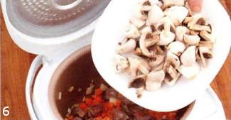 Рагу из говядины с грибами приготовление
