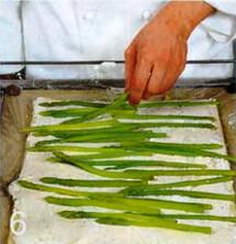 Рулет с сыром и спаржей приготовление