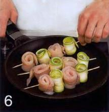 Рулетики из кефали и кабачков приготовление