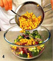 Рыбный салат с брокколи приготовление